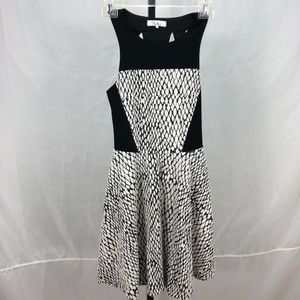 Parker sleeveless dress back cutouts knit
